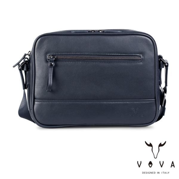 【VOVA】  公爵系列職人斜背包-大(爵士藍)VA120S04BL