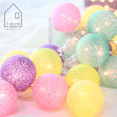 棉線燈led彩燈串燈節日裝飾用品線球串燈道具電池盒 igo