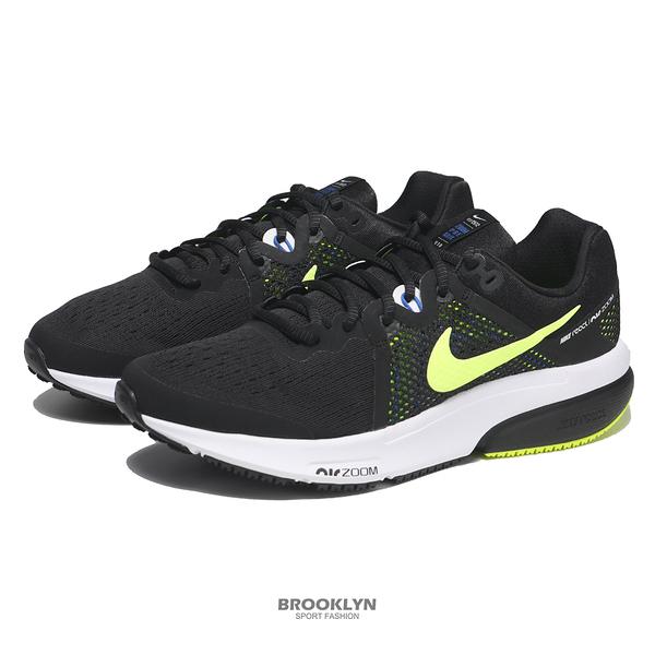 NIKE 慢跑鞋 ZOOM PREVAIL 黑螢光 REACT中底 前掌氣墊 緩震 男 (布魯克林) DA1102-003