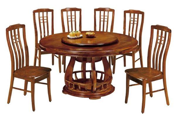 【南洋風傢俱】設計單桌系列-蓮花柚木實木轉盤圓餐桌  SB345-1