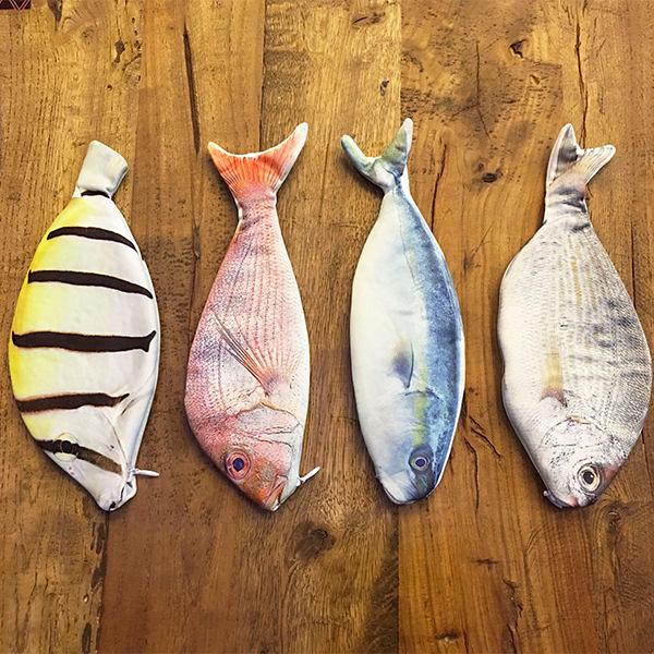 Qmishop 創意仿真魚造型筆袋 收納袋【QJ2270】