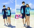 來福泳衣,A158泳衣天藍海長袖拉鍊外套三件式泳衣游泳衣泳裝比基尼泳衣正品,單女售價1200元