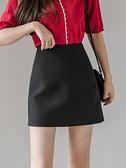 窄裙 韓版高腰雪紡半身裙女夏季新款大碼寬鬆a字短裙ol職業工裝包臀裙 歐歐