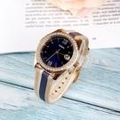 FOSSIL美國品牌Scarlette Mini華麗晶鑽真皮腕錶ES4594公司貨