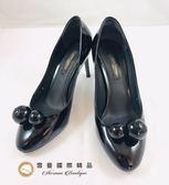 【雪曼國際精品】LV 經典黑色亮面漆皮 ~高跟鞋~二手商品8.5成新