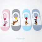襪子 迪士尼毛巾雲氣球船型襪 腳後跟防滑設計 柒彩年代【NRS24】
