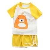 兒童兩件套裝男童夏季女童夏款寶寶短袖短褲純棉小孩衣服嬰兒洋氣 快速出貨
