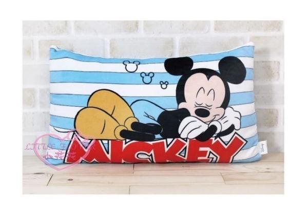小花花日本精品迪士尼系列米奇米妮史迪奇安眠睡睡條紋絨毛抱枕靠枕午安枕 枕頭三款31059909