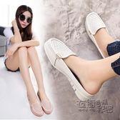 穆勒鞋防滑孕婦涼拖女包頭半拖鞋平底透氣豆豆鞋休閒時尚懶人女單鞋 衣櫥の秘密