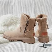 雪靴女加絨加厚運動棉鞋冬季鞋子保暖厚底短靴【邻家小鎮】