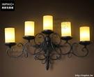 INPHIC- 美式工業創意五頭鐵藝蠟燭壁燈歐式復古餐廳客廳奢華燭臺燈_S197C