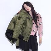 空軍外套-寬鬆加厚棒球服圓領女MA1夾克72av12【巴黎精品】