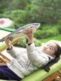動物模型 玩模樂大號鯊魚鯊臂玩具長55厘米軟膠充棉大白鯊兒童動物模型玩具