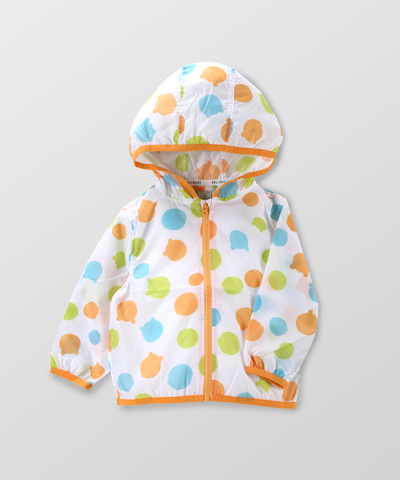 Hallmark Babies 嬰兒防曬外套 春夏圓點連帽長袖風衣外套 HE1-E01-13-BU-DY