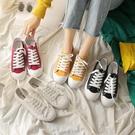 帆布鞋新款夏季學生帆布鞋女超火韓版百搭原宿風ulzzang小白板鞋 衣間迷你屋 交換禮物