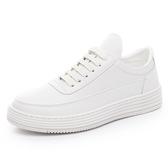 白鞋男鞋 厚底增高白色板鞋男休閒運動鞋子男韓版 潮流小白鞋男 新年特惠