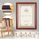 【羅蘭絲】高級實木相框證書框獎狀框6x8吋(3色)畫框木框照片框相片框客製-840