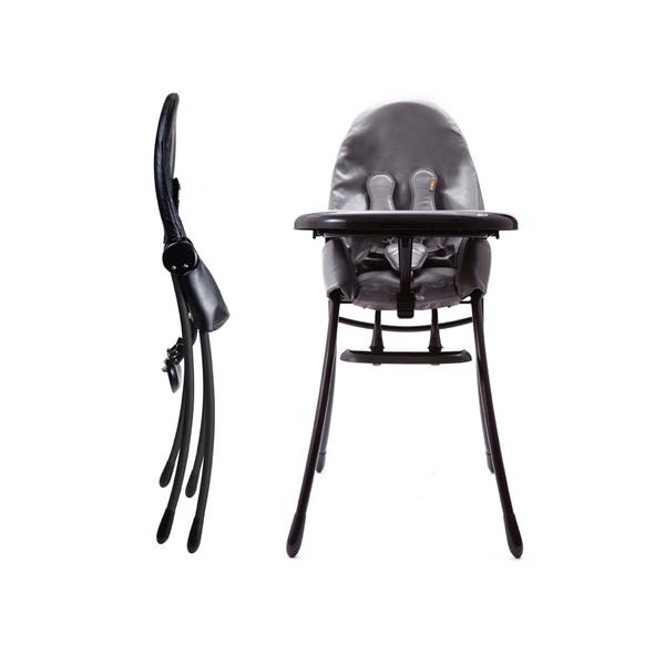 美國 Bloom NANO 可折疊都會風黑框餐椅/摺疊餐椅-蛇皮灰