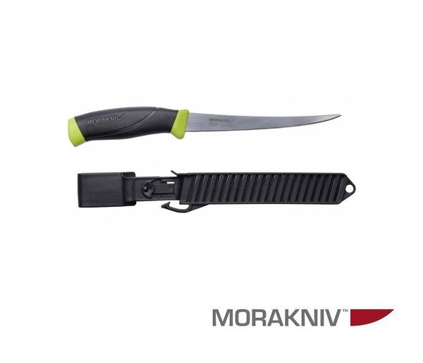 丹大戶外【MORAKNIV】瑞典FISHING COMFORT FILLET 155 不鏽鋼戶外魚刀 黑/綠 11892