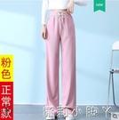 加長闊腿褲女春季高個子170高腰顯瘦直筒寬松垂感休閒拖地女褲子 蘿莉新品
