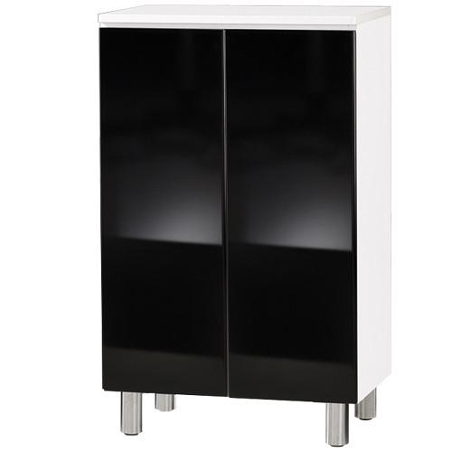 【藝匠】兩密門鏡面PU鞋櫃 收納櫃 鞋櫃 家具 置物櫃 櫃子 收藏 組合櫃 (黑)