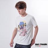 Big Train 雲龍舞家將圓領TEE-男-白-Z8009080(領劵再折)