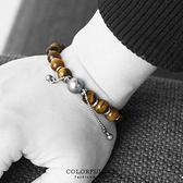 手環  漸層琥珀串珠造型彈性手環手鍊 細緻亮澤紋路 簡約打造亮點【NA320】時尚中性