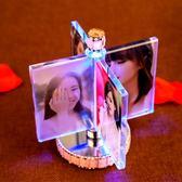 婚紗照創意定制照片風車相框擺台相冊結婚紀念擺件生日禮物送女生【全館免運好康八五折】