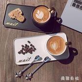 馬克杯創意咖啡杯套裝陶瓷早餐牛奶杯子帶勺情侶杯子簡約zzy8063『美鞋公社』