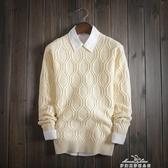 男秋裝毛衣加厚針織衫韓版修身型套頭男士毛衣冬季青年打底衫潮男25 新年禮物