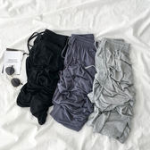 休閒褲 ins直筒垂感長褲夏季2019新款女裝正韓網紅寬鬆闊腿高腰休閒褲子