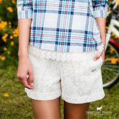 質感蕾絲花紋短褲 Scottish House【AA2265】