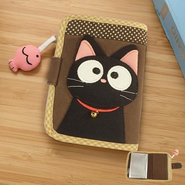 Kiro貓‧小黑貓 多卡層 拼布 識別證套/票卡夾【221837】