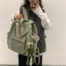 書包女ins風 韓版大學生背包高中森系潮多用大容量旅行帆布雙肩包 安妮塔小鋪