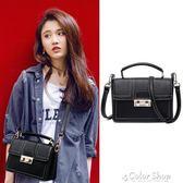 小包包新款韓版手提包單肩女包斜背包少女百搭時尚簡約百搭潮color shop