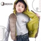 【JORDON 橋登 童羽絨背心《褐色》】0129/保暖背心/兒童背心