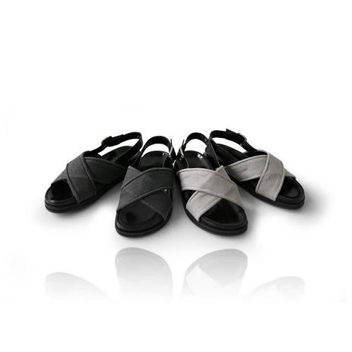 ★現貨★MIUSTAR 韓國基本款。斜紋布交叉後底涼鞋(共2,36-40)【NE0768T1】