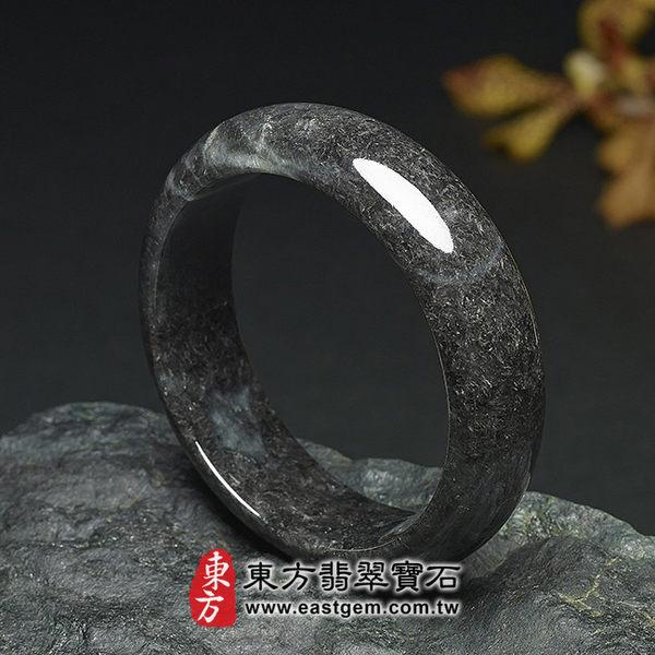烏雞種A貨翡翠手鐲(黑翡翠,圓鐲18.5)BG003。嚴選翡翠,可訂製珠寶。附A貨翡翠雙證書