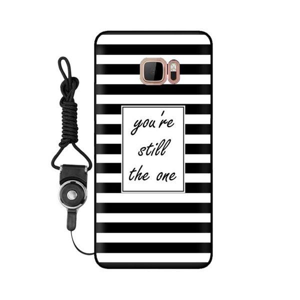HTC U Ultra手機殼黑色指環掛繩硅膠軟殼保護套U Ultra手機套定制 初語生活
