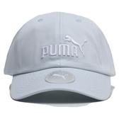 PUMA 淡藍 刺繡LOGO 棒球帽 老帽 可調 男女皆可戴 (布魯克林) 02241622