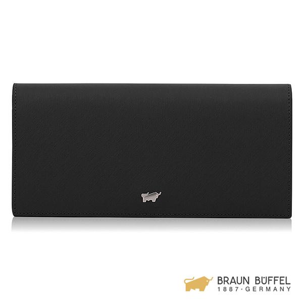 【BRAUN BUFFEL】美莉莎-III系列21卡兩折長夾 -黑色 BF651-200-BK