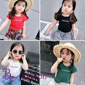勁爆-女童夏裝 韓版卡通字母 印花短袖 時尚T恤 打底衫 Be Fashion