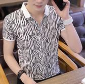 短袖襯衫-夏季男士短袖T恤潮流打底衫有領半袖POLO衫男裝韓版修身體恤衣服 東川崎町