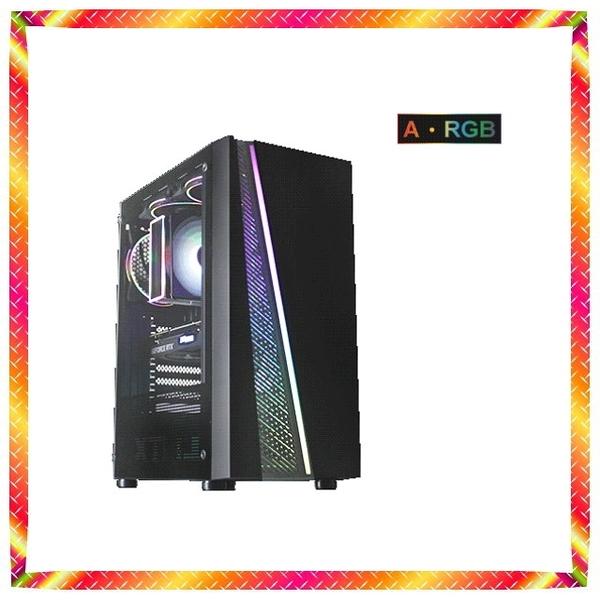 華碩B460主機搭載十代 i5-10600KF 酷炫RGB GTX1650獨顯 美型機