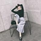 套裝 好康推薦秋冬保暖季新品時尚女裝氣質針織衫高腰顯瘦闊腿褲長褲套組兩件式