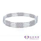 【光彩珠寶】日本18K金磁鐵手環/項鍊三用款-銀色
