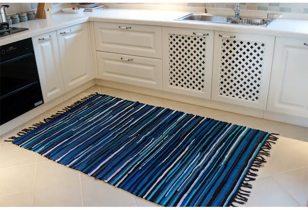 【時尚精品88折】時尚編織創意地毯 廚房浴室衛生間臥室床邊門廳 吸水長條防滑地毯 (70cm×180cm)