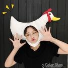 韓國創意網紅自拍卡通小鴨頭套女帽子ins可愛少女軟萌自拍攝道具 交換禮物 交換禮物