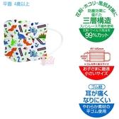 日本SKATER兒童平面口罩 三層防塵拋棄式舒適霧霾塵蹣 特殊耳繩設計久戴耳朵不痛