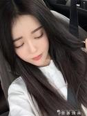 假髮女中長髮網紅黑色中分劉海仿真u型長直髮自然逼真全頭套式